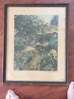 """WALLACE NUTTING """"A Garden Of Larkspur"""" WN14 Original Frame. 16 1/2 By 15 1/2"""
