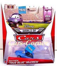 "Disney Pixar Cars Matthew ""True Blue"" mccrew la fan Dinoco con la bandera de King"