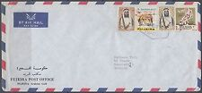 1970 UAE fujeira cover to Germany, New currency ovpts. Olympic Games [bl0213]