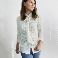 Theory Crochet Cropped Sweater Women's Size XS