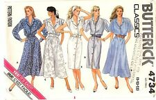 Butterick Classics Sewing Pattern Women's SHIRT DRESS 4734 Size 8-10-12 UNCUT