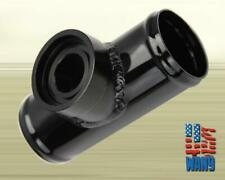 Black Aluminum Turbo Blow Off Valve Flange Adapter Pipe for HKS SSQV SQV BOV