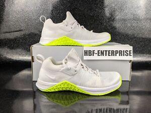 Nike Metcon Flyknit 3 White Volt CrossTrainer Women's Size 7 Men's Size 5.5 NEW