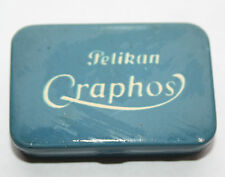 VINTAGE TURQUOISE BLUE PELIKAN GRAPHOS PEN NIB TIN containing 5 nibs - German