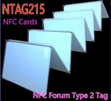50pcs/Lot NFC NTAG215 Card 13.56 MHz ISO14443A RFID Tags Smart Cards NFC Forum T