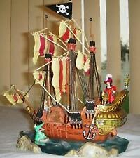 Peter pan Captain Hook Light up Pirate ship statue figue