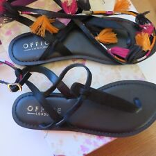 Office 'Spicy' Summer Toe Post Sandals with tassel Trim size 7 New