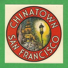 "VINTAGE ORIGINAL 1946 GOLDFARB ""CHINATOWN"" SAN FRANCISCO CALIFORNIA DECAL ART"