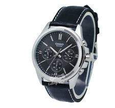 -Casio MTP1375L-1A Men's Strap Fashion Watch Brand New & 100% Authentic