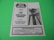 FOLEY BELSAW OWNERS MANUAL 308 SAW CHAIN GRINDER -------------------- DR37