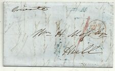 * 1851 IRELAND - DUBLIN LETTER TO W H MOSS IN HULL REF LONDON COFFEE HOUSE