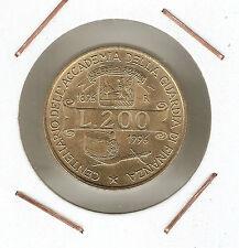 Italia ( Italy ) : 200 Lire 1996 ( Cent. Academia Guardia di Finanza ) UNC