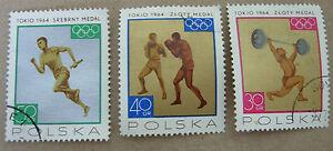 POLAND 1964 OLYMPIC MEDAL WINNERS TOKIO SPORT GAMES TOKYO UA FDC