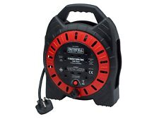 Eagle 15m 4 UK Mains Socket 13A Open Cable Reel Overload Cut Out /& Reset Button