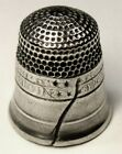 Antique Simons Bros  Sterling Silver Thimble   Liberty Bell w  4 Stars   C1890s