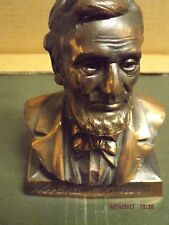 Vintage Abraham Lincoln Metal(Copper) Coin Bank,Lincoln First Federal Savings An