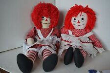 Raggedy Ann & Andy Stuffed Doll Lot of 2  LOT3 Handmade