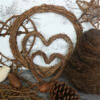 Christmas Natural Dried Rattan Wreath Xmas Garland Home Door Wall DIY Decor Pop
