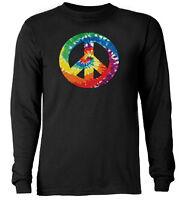 Tie Dye  Peace Sign shirt  * Long Sleeve T-shirt *