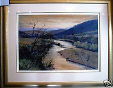 Brian Allison original Australian pastel titled 'Upper Murray River Scene'