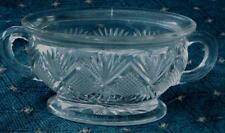 Nice Pressed Glass Footed Sugar Bowl, NO LID, VERY GOOD CONDITION