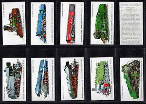 Cigarette Cards Prescott Trains Rare 1980 mint set