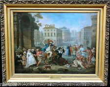 The Commedia dell'arte Circa 1700S A RARE WORK FROM ITALY PAINTING ON CANVAS