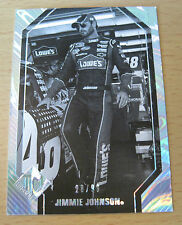 2012 PRESS PASS NASCAR TOTAL MEMORABILIA B/W #/99 JIMMIE JOHNSON LOWE'S SPRINT