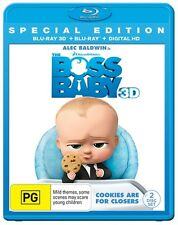 Boss Baby, The (3D Blu-ray, 2017, 2-Disc Set) (Region B) Aussie Release