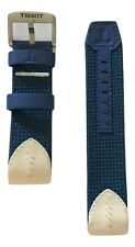Original Tissot T-Touch Expert SOLAR Blue/ White/ Textile w/ Leather Strap Band
