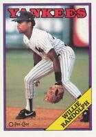 Willie Randolph 1988 O-Pee-Chee #210 New York Yankees card