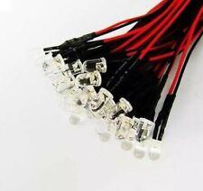 LED Wired White light LEDS 3mm (x4pcs)  Model builds plane hobby