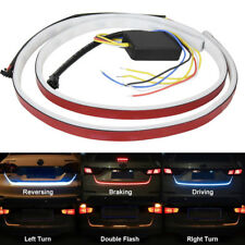 LED Car Trunk Tailgate Tail Turn Signal Brake Running Flow Strip Light 5 Modes
