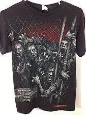 AMC The Walking Dead Zombie Graphic Walkers Fence Georgia Black T-Shirt Mens S