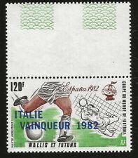 1982 FOOTBALL WORLD CUP ITALIE GAGNE COLONIES FRANCAISES WALLIS FUTUNA NEUFS **