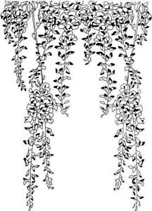 Background - Wallpaper - Trailing Leaves #1 Unmounted Clear Stamp Approx 43x60mm