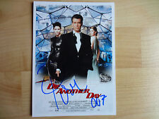 Pierce brosnan acteur handsigniertes autographe sur photo.