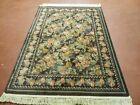 Karastan Rug 4 x 5.5 Vintage Area Carpet Rajasthan Collection Wool Windsor Rose
