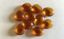 Lot de 10 perles en verre en forme de goutte 15 mm