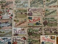 Big Lot of 25~Large Letter~ Greetings From~ Vintage Antique~Postcards-a566
