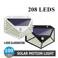 100/208LED Solarleuchte Wandleuchte mit Bewegungsmelder Garage Außenlampe Licht