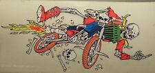 Motorcross Motorcycle Motor Bike Skeleton 1993 Wizard Wear Decal Sticker