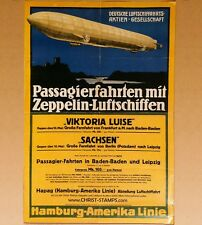 Zeppellin Airship Travel Poster Reproduction