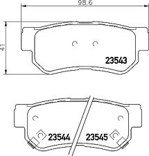 Mintex Rear Brake Pad Set MDB2036  - BRAND NEW - GENUINE - 5 YEAR WARRANTY