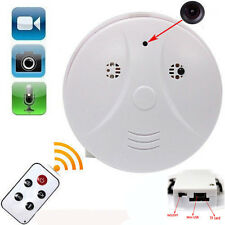 HD Cam Remote Smoke Detector Security DVR Pinhole Nanny Camera Motion Detection