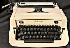 Vintage 1960s Working ROYAL SAFARI 990 Portable Typewriter Case & Papers