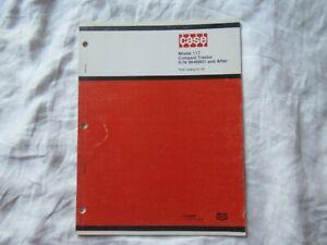 1975 Case 117 lawn garden tractor parts catalog manual book