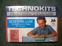 UNBUILT Electronic science project kit BEND WIRE party game show skill test toy
