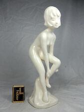 Sehr schöne 50´s design weiße / white Cortendorf Keramik pottery  Figur  28,5 cm