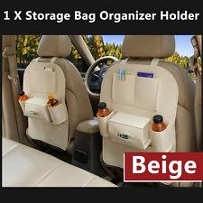 Auto Car Seat Back Multi-Pocket Storage Bag Organizer Holder Accessory New Beige